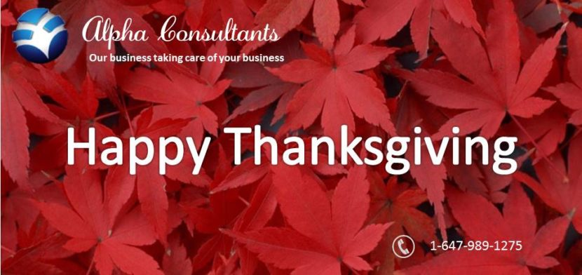 Thanksgiving specials Alpha Consultants