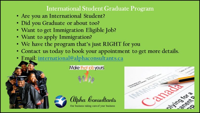 International Student Graduate Program