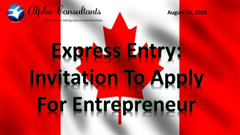 Ontario new invitation Express Entry candidates entrepreneurs