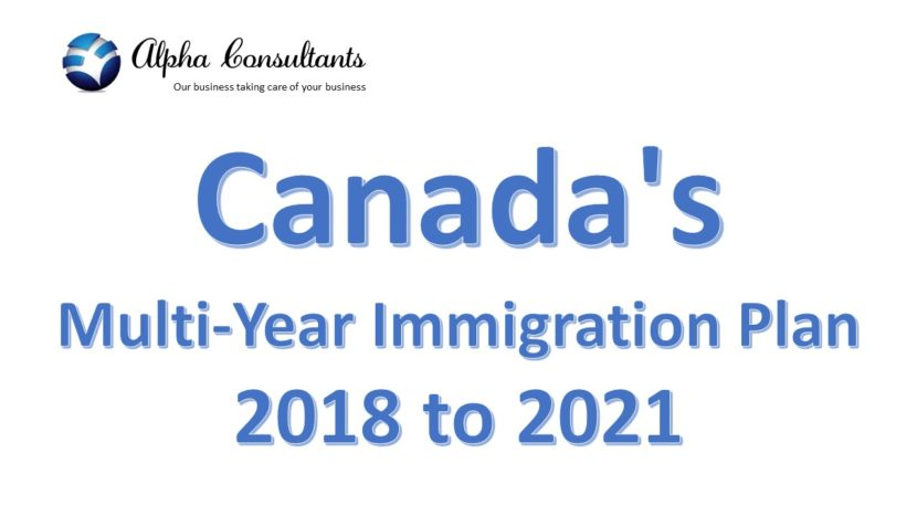 Canada's Multi-Year Immigration Plan 2018 to 2021