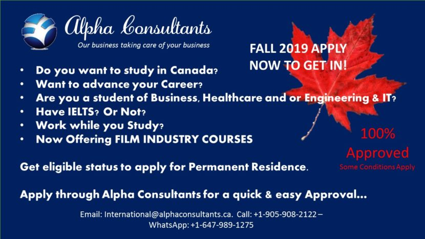 FALL 2019 & Winter 2020 INTERNATIONAL STUDENT ADMISSIONS